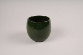 A009XD Green ceramic planter D18.5cm H17cm