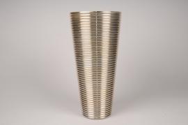 A010A3 Vase verre or D25cm H50cm