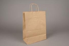 A010AS Bag of 25  natural kraft bags 26cm x 12cm H36cm