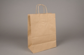 A010AS Paquet de 25 sacs kraft naturel 26cm x 12cm H36cm