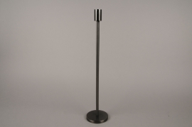 A010E0 Black metal candle holder H45cm