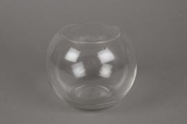 A010I0 Glass bowl vase D14 H12cm