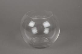 A010I0 Vase boule en verre D14cm H12cm