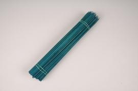 A010L5 Paquet de 100 tuteurs bois teinté vert 40cm