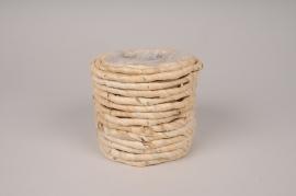 A010MZ Cache-pot en jacinthe d'eau D13cm H11cm