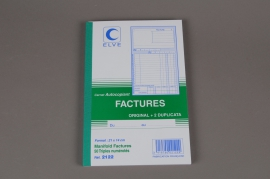 A010OI Book 50 carbonless invoices
