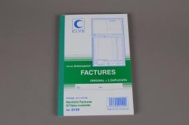 A010OI Carnet autocopiant de 50 factures (original + 2 duplicata)