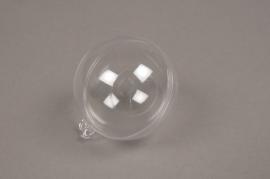 A010OZ Boîte de 50 boules plastiques ouvrables transparentes D6cm