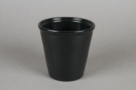 A010XF Cache-pot en céramique noir D14cm H14cm