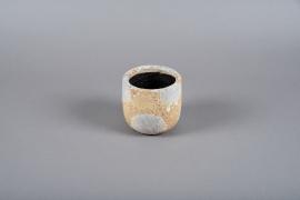 A010ZH Cache-pot en céramique blanc D12cm H11cm