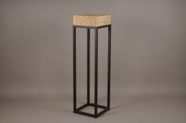 A010ZV Wooden and metal stand 25cm x 25cm H90cm