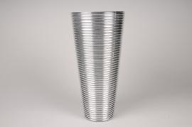 A011A3 Vase verre argent D25cm H50cm