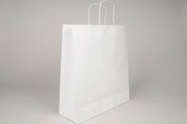 A011AS Paquet de 25 sacs kraft blanc 36cm x 41cm H41cm