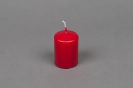 A011E2 Boîte de 24 bougies cylindre rouge D4cm H6cm