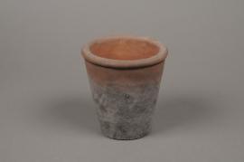A011IH Cache-pot en terre cuite patiné D12cm H13cm