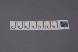 A011K4 Set of 70 letters J 33mm