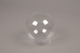 A011OZ Boîte de 20 boules plastiques ouvrables transparentes D8cm