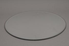 A011PM  Support de bougie miroir D30cm