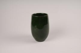 A011XD Vase en céramique vert D13cm H20cm