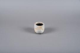 A011ZH White ceramic planter D8cm H8cm