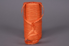 A011ZR Roll of synthetic raffia orange 200m