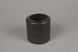 A012A0 Metal planter with glass pot D9cm H9cm