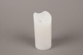 A012A1 Bougie électrique LED blanc D7.5cm H15cm