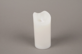 A012A1 Electric white candle LED D7.5cm H15cm