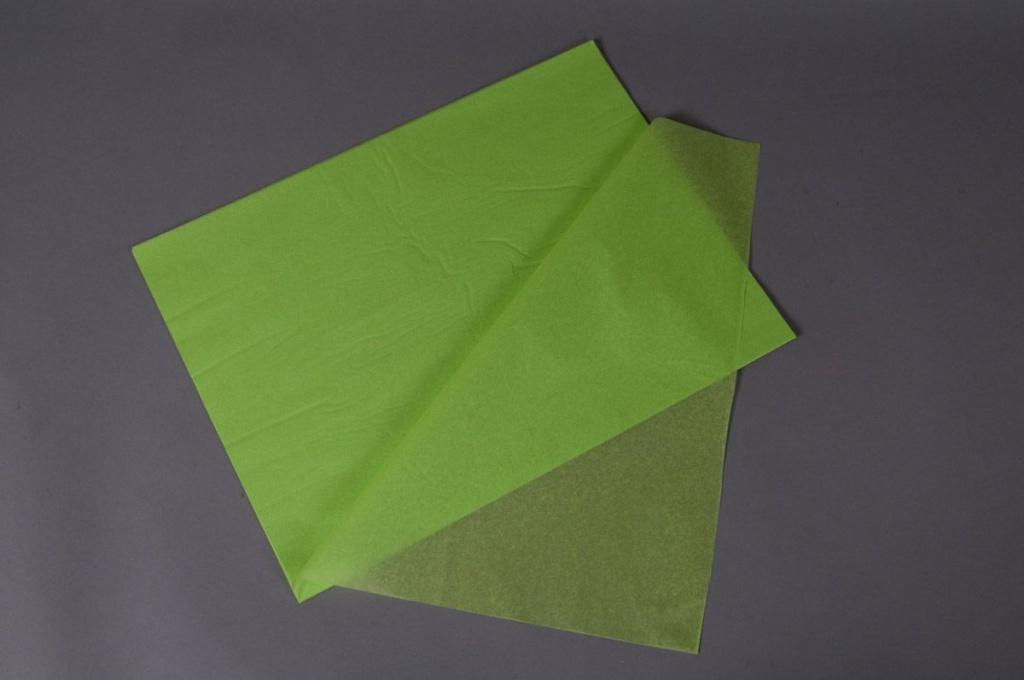 A012AS Paquet de 520 feuilles papier de soie vert pomme 50x75cm
