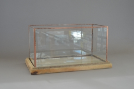 A012B8 Glass and copper light holder 44x25cm H22cm