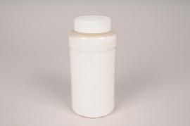 A012BW Glitter pot 400g white
