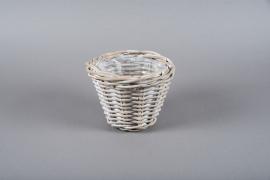 A012GL Cache-pot en kubu gris D17cm H16cm
