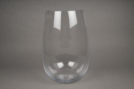 A012I0 Vase en verre arrondi D20cm H33cm