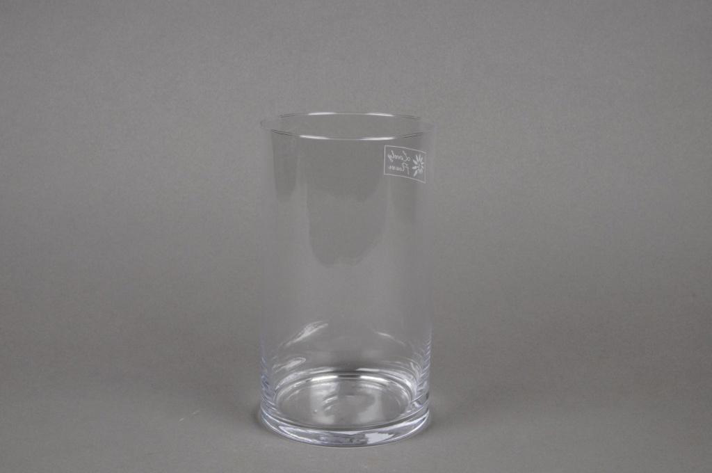 A012I0 Cylindric glass vase D11.5cm H20cm