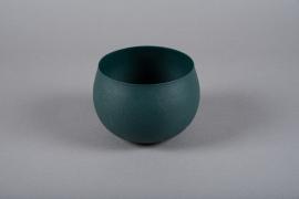 A012JY Cache-pot en métal vert D16cm H11.5cm