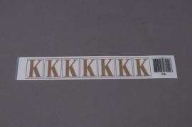 A012K4 Pochette de 50 lettres K 33mm