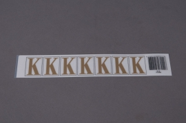 A012K4 Set of 50 letters K 33mm