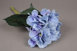 a012nn Hortensia artificial bleu H48cm