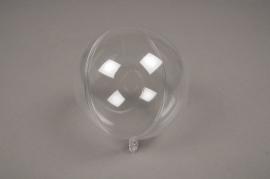A012OZ Boîte de 12 boules plastiques ouvrables transparentes D10cm
