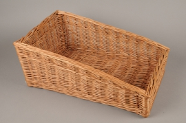 A012TD Wicker shelf basket 52cm x 31cm H21cm