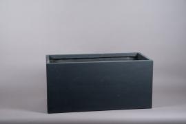 A012VV Black fiberglass planter 37cm x 80cm H37cm