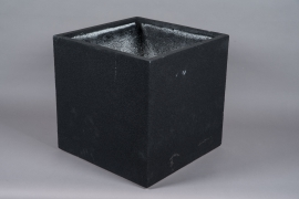 A012W7 Black resin planter 50x50cm H50cm