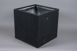 A012W7 Pot en fibre noir 50x50cm H50cm