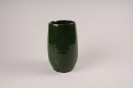 A012XD Vase en céramique vert D15cm H25cm