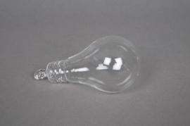 A012XO Vase ampoule en verre D5cm H11cm