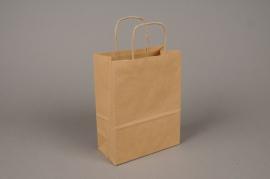 A013AS Bag of 25 natural kraft bags 36x12cm H41cm