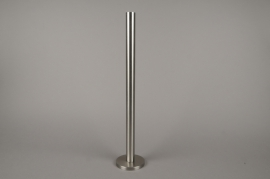 A013E0 Silver metal candle holder H51.5cm