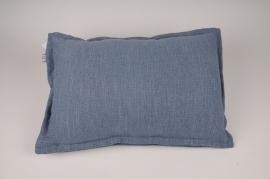 A013N5 Coussin en tissu bleu 55x38cm