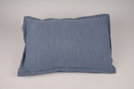 A013N5 Cushion in blue fabric 55x38cm