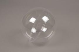 A013OZ Boîte de 12 boules plastiques ouvrables transparentes D12cm